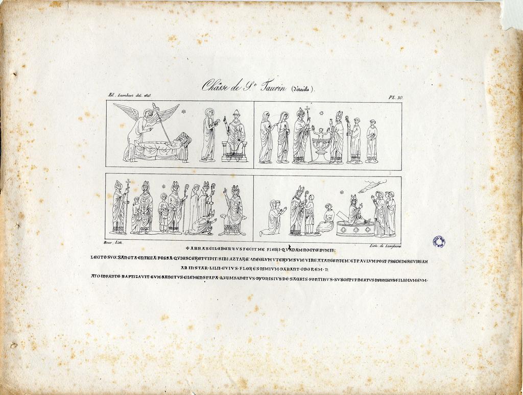 Châsse de S.t Taurin (Détails) / Bour lith. ; lith. de Langlumé   Langlumé (17..-18..). Graveur