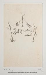 Trois cordes à linge | Shiraishi, Mitsuo (1969-....). Graveur